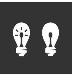 Lightbulb logo icon on black background vector