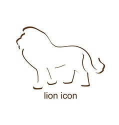 Lion icon on white background vector image vector image