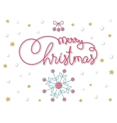 Merry Christmas hand lettering image vector image