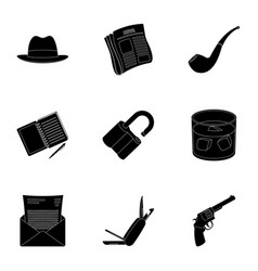 pistol tube identification magnifier and other vector image vector image