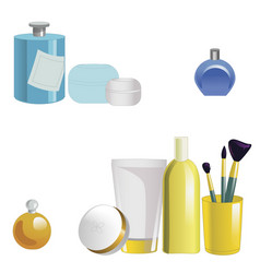 Set of face care products isolated on white vector