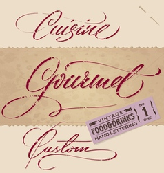 vintage menu headlines set vector image