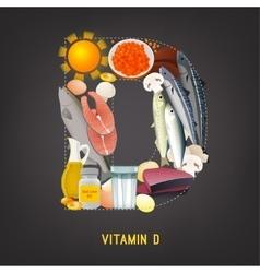 Vitamin d in food vector