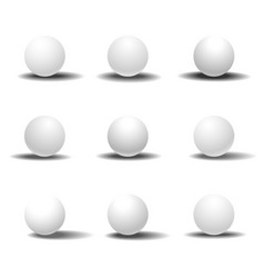 White 3d sphere set with shadows vector