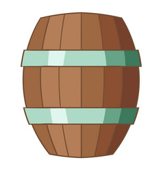 Wooden barrel icon cartoon style vector