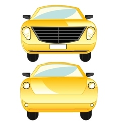 Car type frontal and behind vector