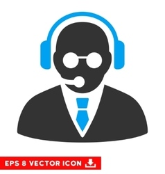 Support manager eps icon vector