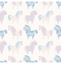 Simple seamless pattern with 4 pony in pastel vector