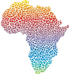 Abstract africa in a leopard camouflage vector