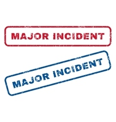 Major incident rubber stamps vector