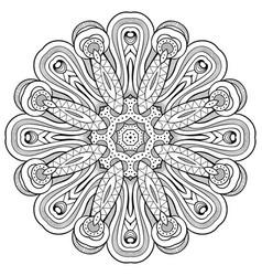 floral mandala vintage ornamental vector image