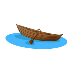 wooden boat vector image