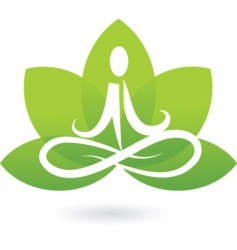 Yoga lotus logo vector