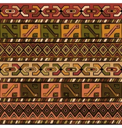 Vintage ethnic hand-drawn seamless pattern vector