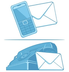 Contact us symbol phone mail vector