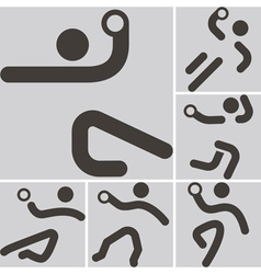 Handball icons vector