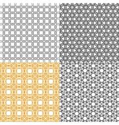 Set of abstract vintage geometric wallpaper vector