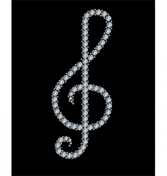 diamond treble clef vector image