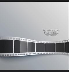 3d film strip background design vector image vector image