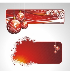 Christmas collection with banners vector