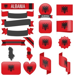 Albania flags vector