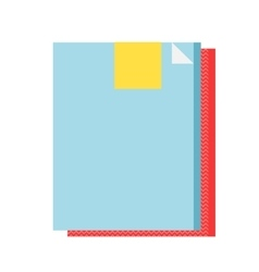 Office folder clip clamp and school paperclip vector