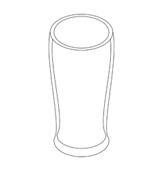 Beer glass icon isometric 3d style vector