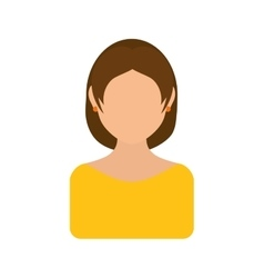 Woman icon avatar person design graphic vector