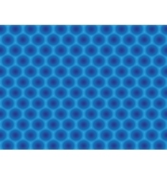 Blue circular hypnotic pattern vector