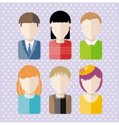 Characters silhouettes people professions vector image