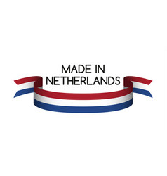 colored ribbon with the dutch tricolor vector image vector image
