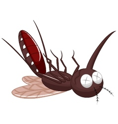 Death mosquito cartoon vector image