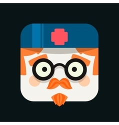 Doctor profession avatar Trendy icon vector image