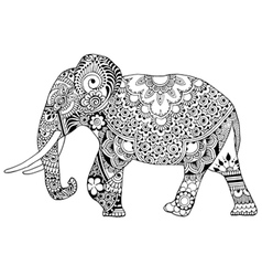 Elephant decorated with ornaments vector image vector image