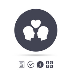 gay couple sign icon male love male vector image