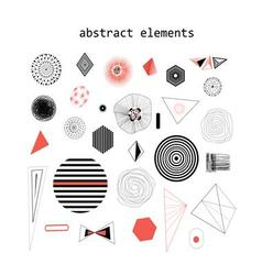 Graphic and with abstract vector image vector image