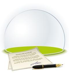 Insurance globe vector image