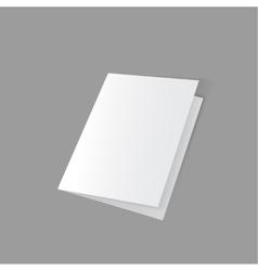 lying half-open blank vector image