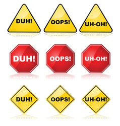 Mistake signs vector image