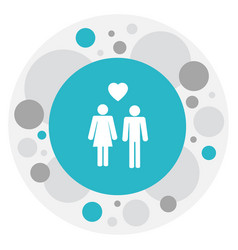 Of relatives symbol on lovers vector