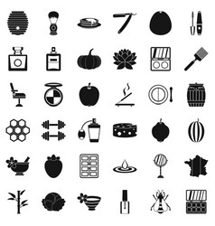 Product icons set simple style vector
