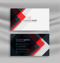 Red and black creative business card template vector