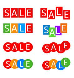Sale label set vector