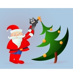 Santa Claus on greeting card vector image vector image