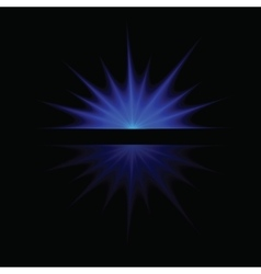 single blue star vector image vector image