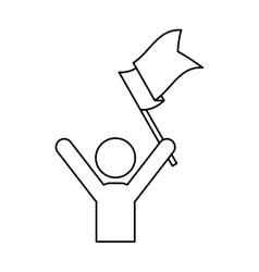 Success man pictrogram vector image vector image
