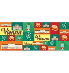 Travel and tourism icons vienna vector