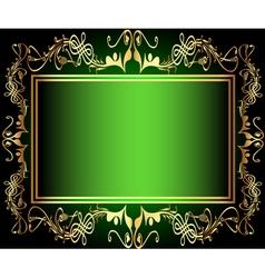 Vintage green Floral Frame vector image vector image
