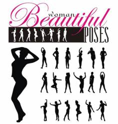 woman silhouettes illustration vector image vector image