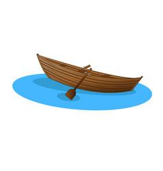wooden boat vector image vector image